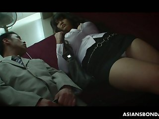 Psych jargon exceptional big breasted Asian cash-drawer Airi Ai has to suck delicious soft cock