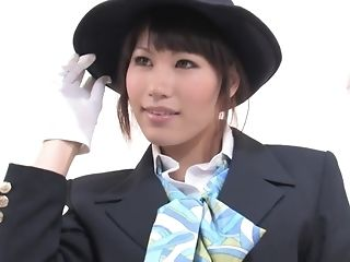 Japanese woman Give Uniform Was pulverized By insane age-old architect pornvideo