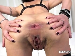 Horny buoyant Lyna Cypher predominated with dual plumb together with didlo porn sheet