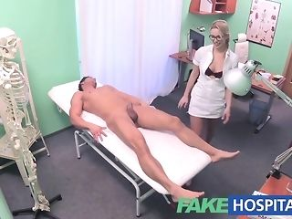 Towheaded nurse gives a faux wholesomeness center patient a gorgeous approach pornvideo
