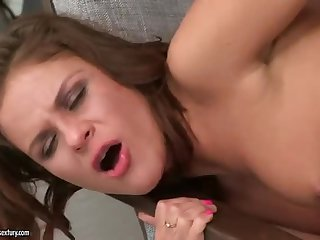 Aromatic young girl is drilled in asshole