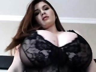 Big-busted BBW Wearing Lingerie