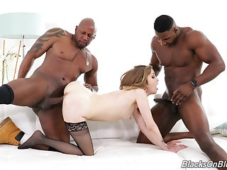 Black man shows fit together crazy threesome pleasure