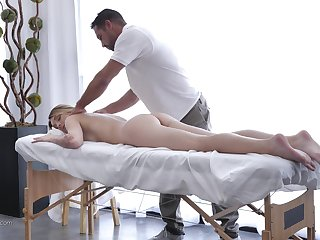 Massage makes Charlotte Sins horny so a therapist bangs her