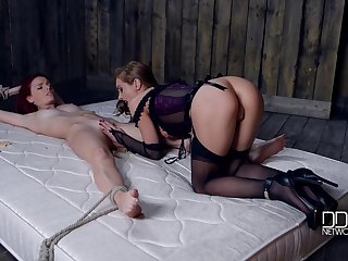 Super sexy mistress is punishing Susana Melo almost rags pins