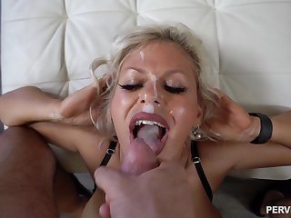 Hardcore fucking in doggystyle with facial be beneficial to Cashca Akashova