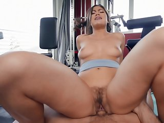 Aroused Asian with big ass, ugly riding porn at dramatize expunge gym