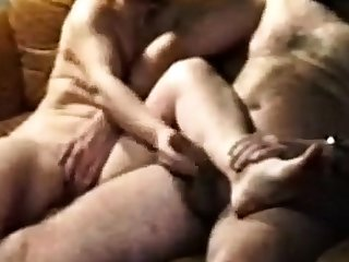 Masser af sperm i Grannys munden