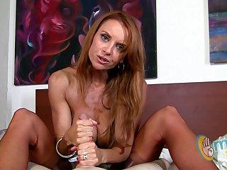 Janet Mason gives her pauper a handjob!