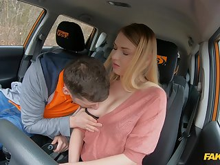 Slutty youngster Lucy Heart screws her older driving teacher