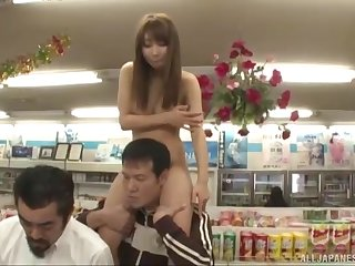 Abnormal fucking in the public store with sexy model Ayami Shunka