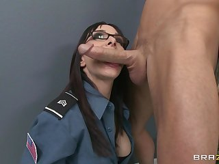 Tryst fucking atop the floor and table with secretary Cytherea