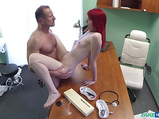Red-haired slut Anne Swix gets it on with her counselor