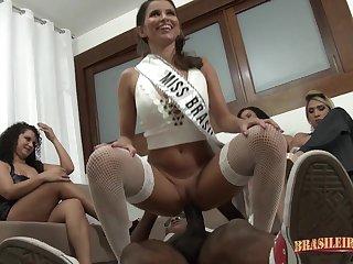 Super hot Latina party line up sex