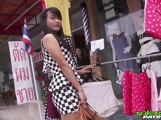 Lewd Thai chick Pai gets intimate with one stranger man