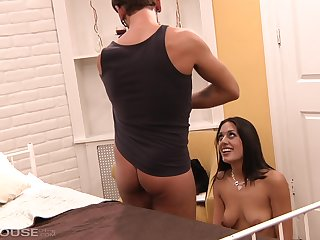 Brunette, Hairy, Pussy, Small tits, Tits,