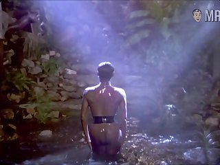 Glamorous celebrity Grace Jones exhibitionism her beautiful nude insidious body