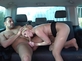 Blonde mature sucks dick and fucks in excess of her way to work