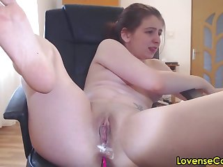 Well supplied more romanian camgirl masturbating more lovense lush