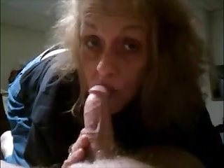 Granny sucking step little by little dig up with the addition of get cum on lips
