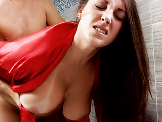 Horny old bean forcibly fuck busty stepmom