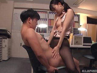Couple, Cowgirl, Cum, Cumshot, Doggystyle, Fucking, Hardcore, Japanese, Natural, Panties, Pantyhose, Tits,