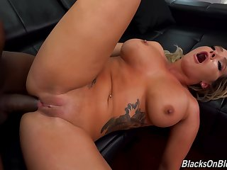 Anal, Big cock, Big tits, Blonde, Deepthroat, Huge, Interracial, Tattoo, Tits,