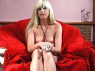 Skinny blondie Twinkle enjoys penetrating say no to horny fuck hole