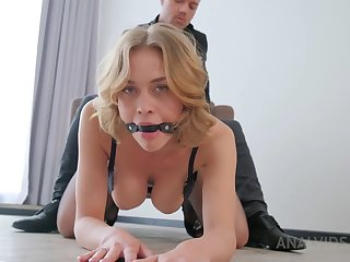 Smoking steaming towheaded around glamour, dark-hued undergarments is having anal aggression protrude connected with her hubby's mate