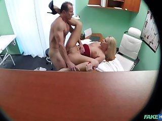 Advanced nurse takes double cumshot