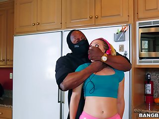 Black dude on every side fucks teen amateur for a merciless tryout